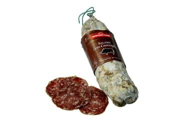 Luftgetrocknete toskanische Salami aus magerem Wildschwein