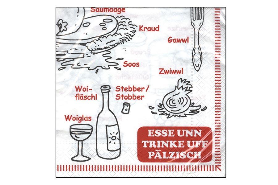Servietten - Pälzer Esse und Drinke -